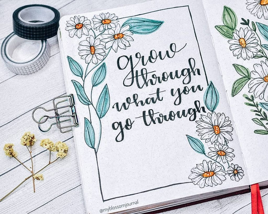 spring flowers theme bujo quotes