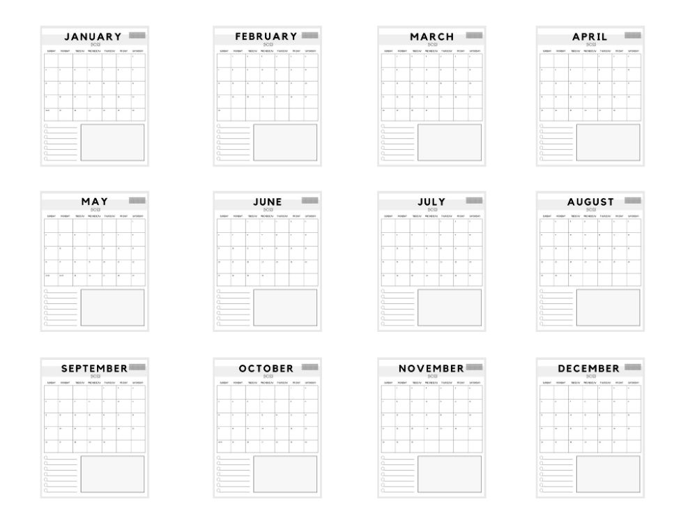 elegant free vertical 2021 calendar