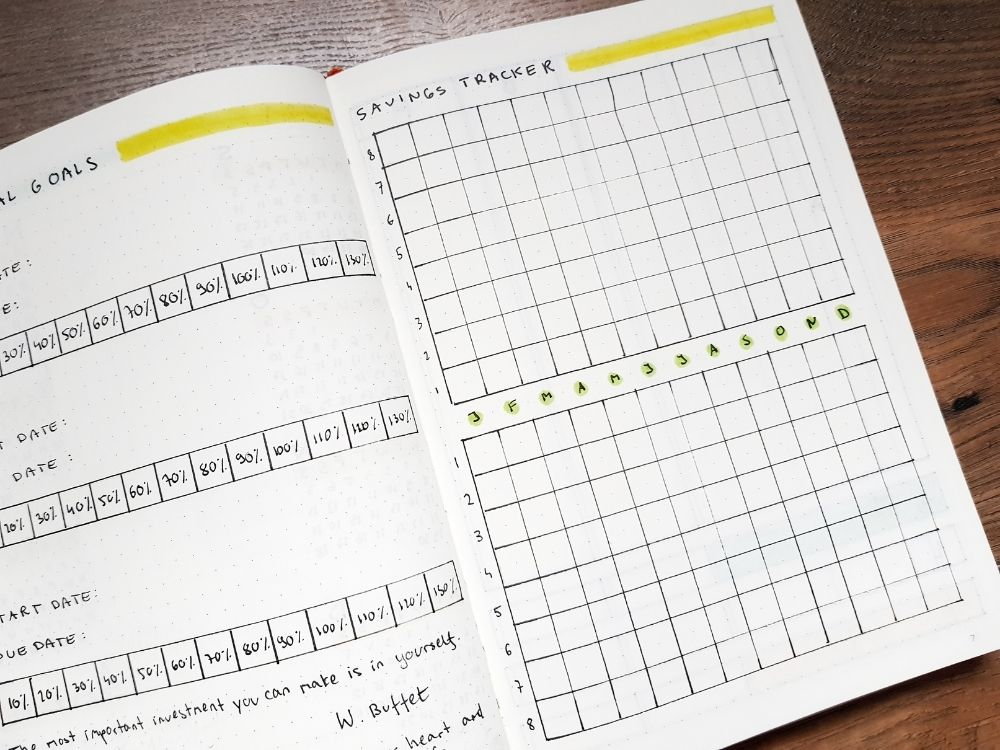 2021 saving tracker planner page