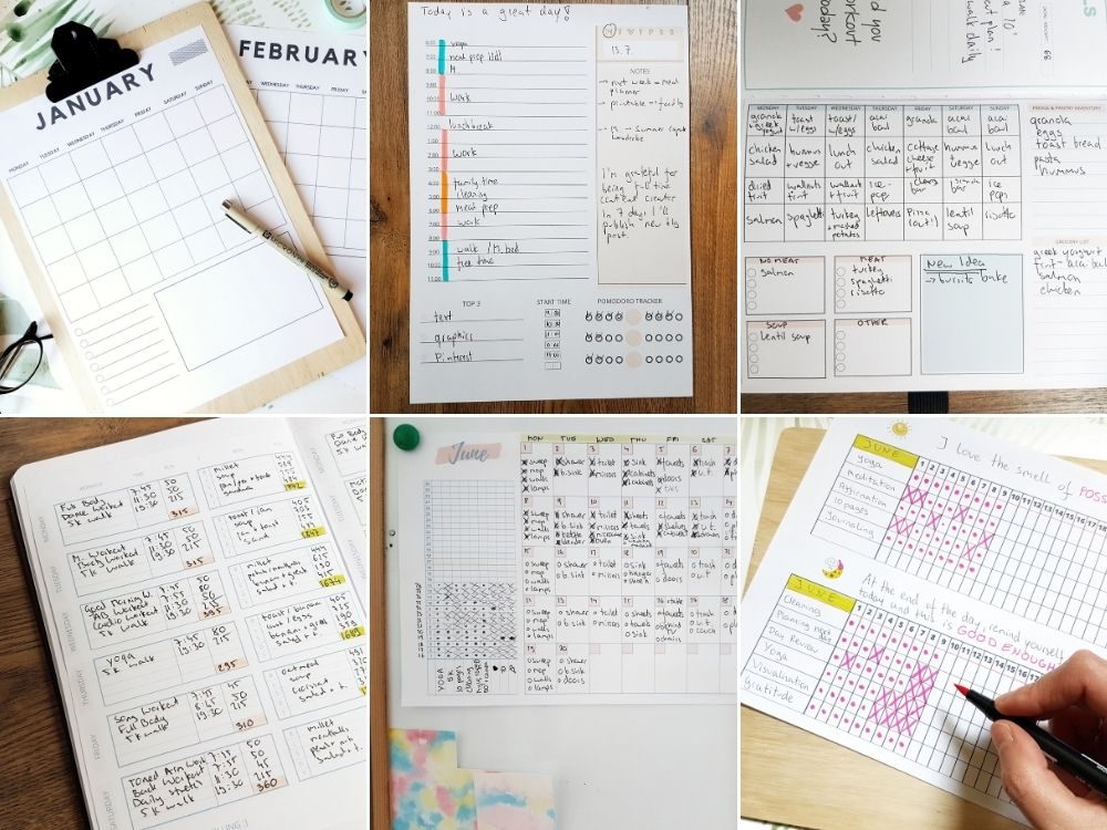 free templates planner inserts