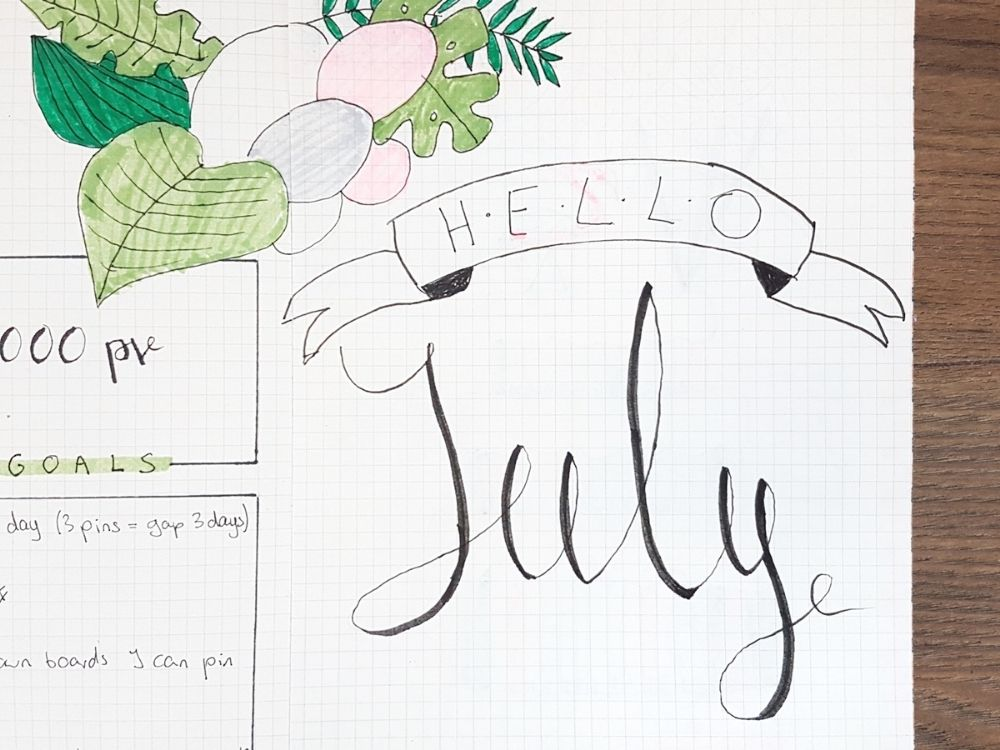 hello july page