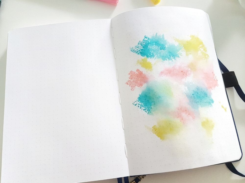 empty notebook ideas watercolor art