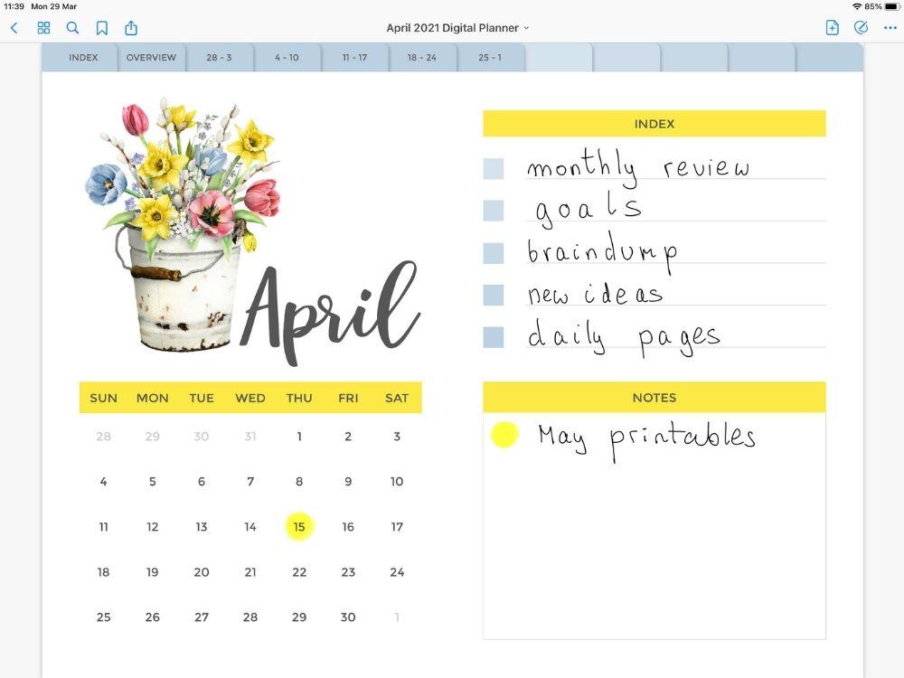 Digital Planner April 2021