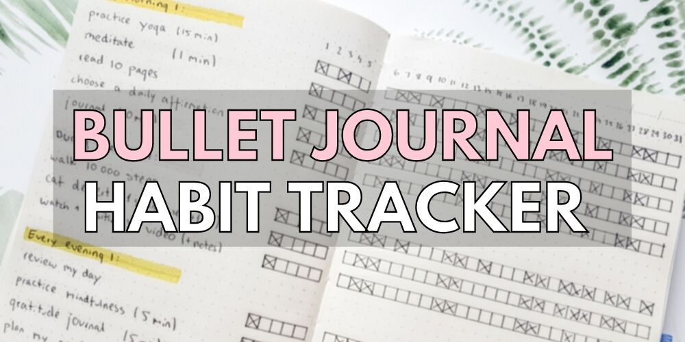 habit tracker bujo ideas