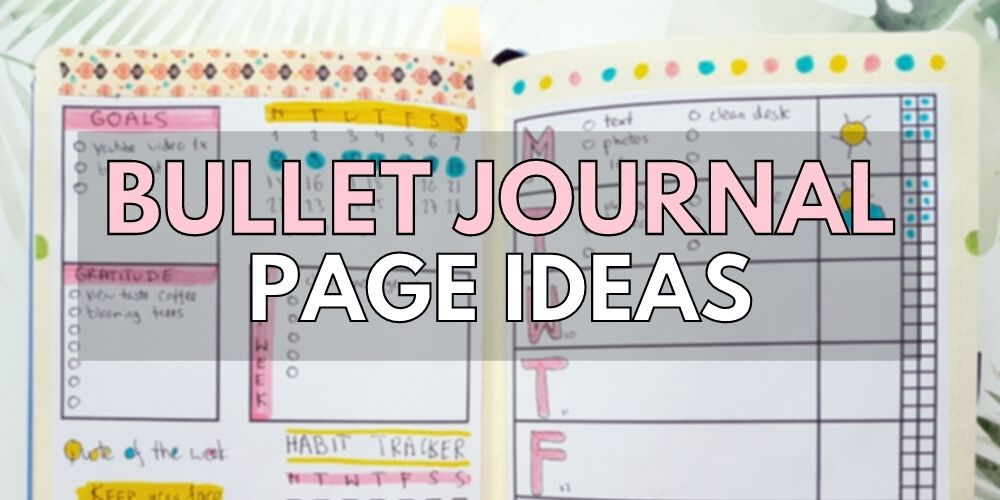 planner pages inspiration bullet journal 101