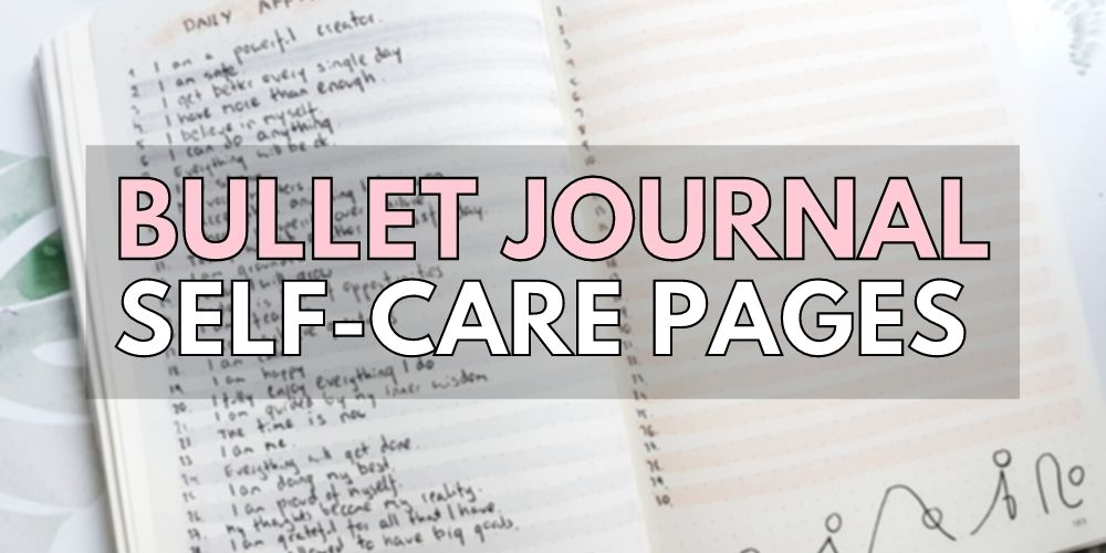 self care planner page ideas