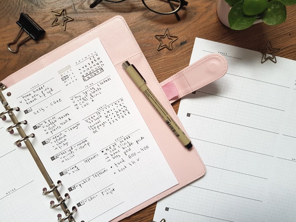 organize your lige weekly planning
