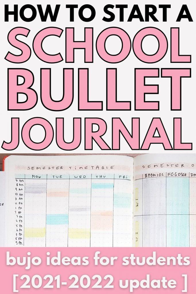 school bullet journal ideas