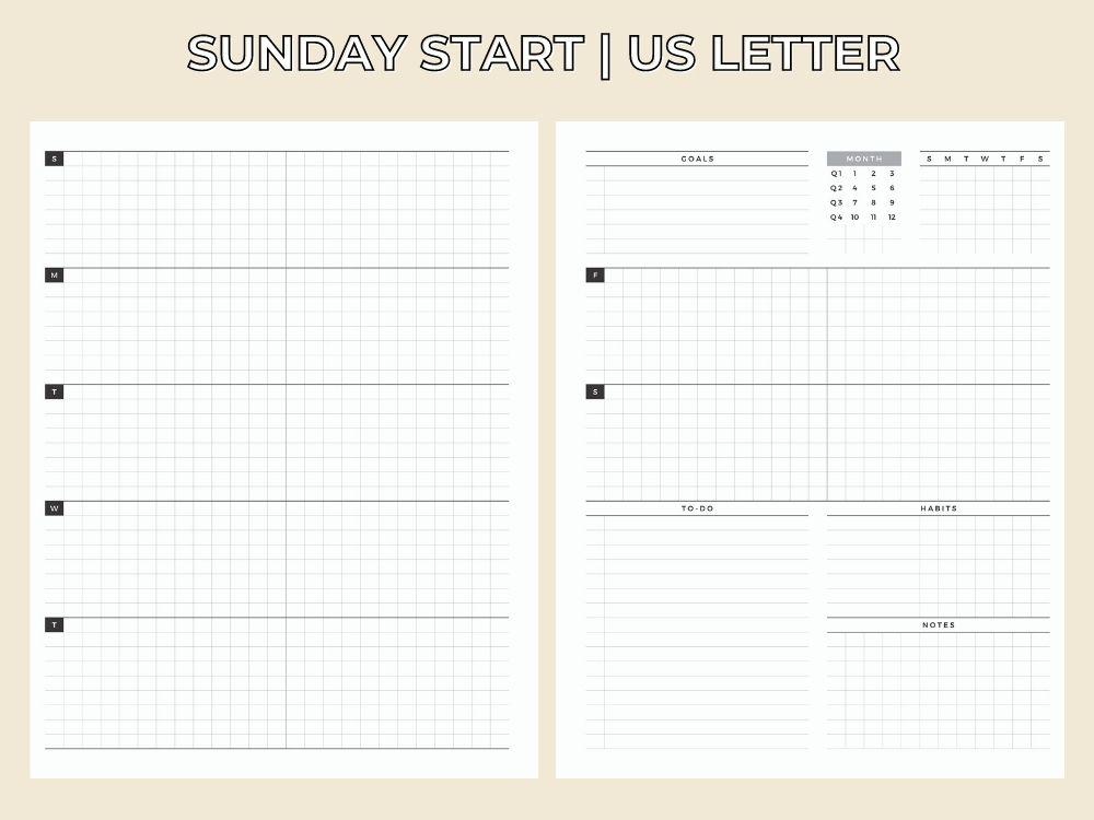 elegant weekly free template pdf