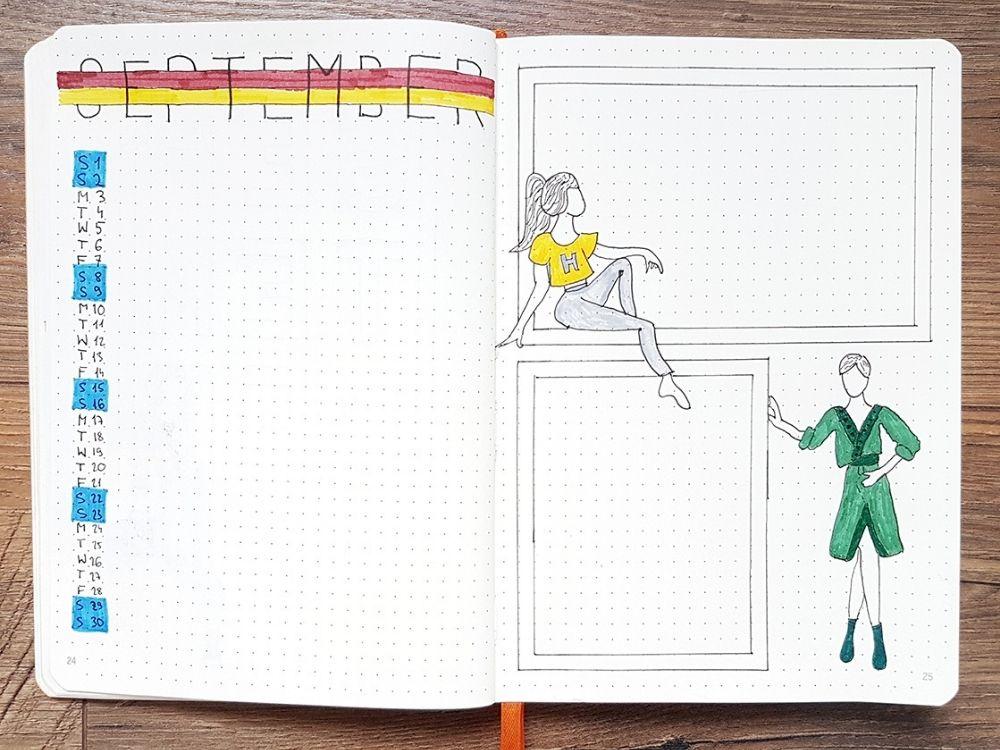 notebook weekly diy planner hp themed