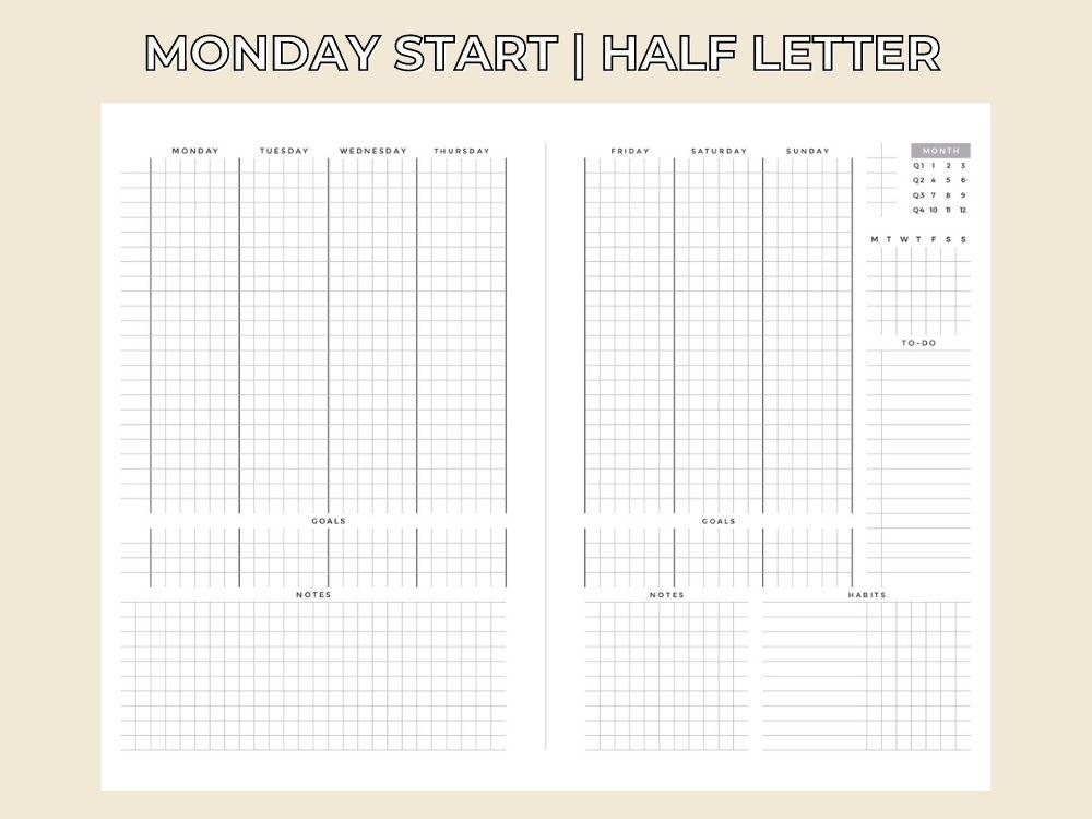 hourly weekly schedule printable