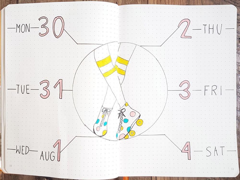 august bullet journal ayout ideas