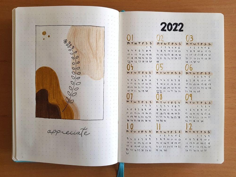 2022 bullet journal future log