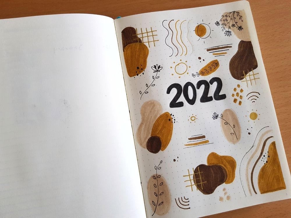 2022 bullet journal setup hello page