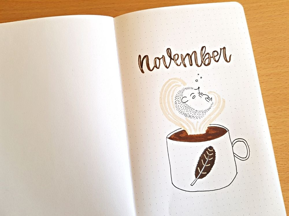 bujo notebook cover coffee theme